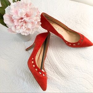 Sole Society Red Pointed Toe Heels
